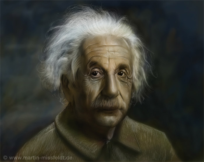 Albert Einstein - Dogitales Portrait
