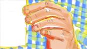 Hand mit Zettel