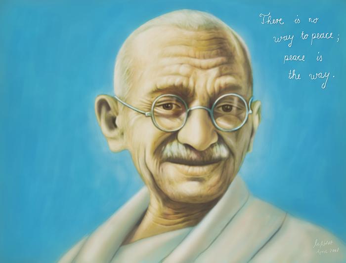 Mahatma Gandhi (Speedpainting von mir)