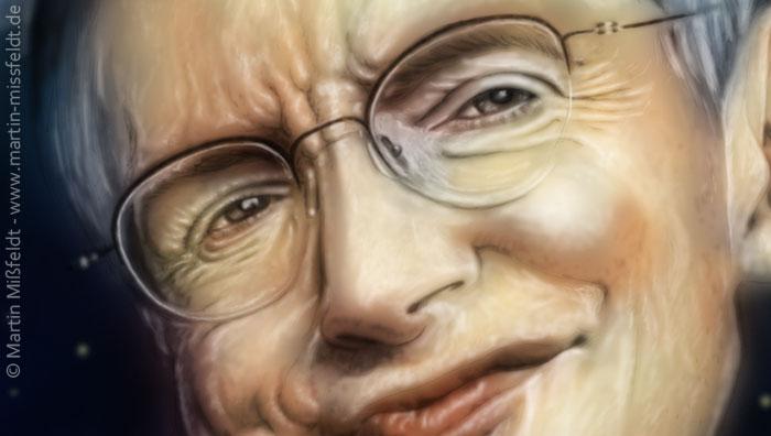 Stephen Hawking Augen