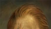 Stirn und rote Haare Retusche
