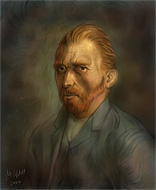 18: Vincent van Gogh - Photoshop Malerei