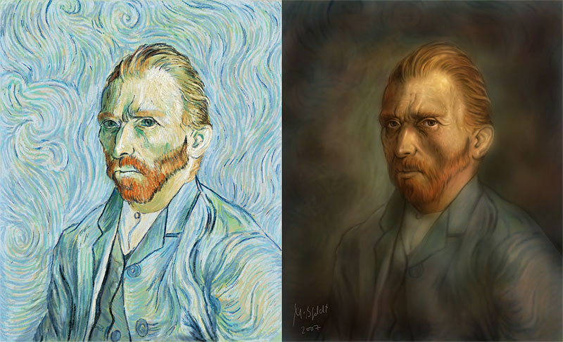 Vincent van Gogh - Photoshop Malerei