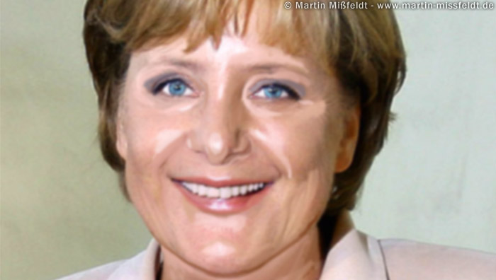 photoshop hairstyle. Photoshop retouch 1 : Merkel