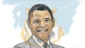 Vorzeichnung Obama