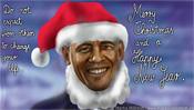 Barack Obama ist nicht der Weihnachtsmann - Karikatur