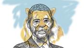 Barack als Tiger - Karikatur