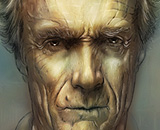 Digitale Malerei: Clint Eastwood