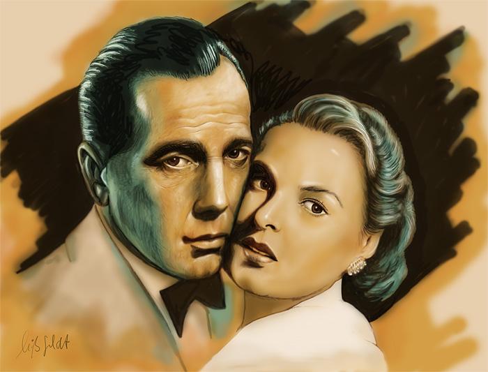 Ingrid Bergmann, Humphrey Bogart - Filmplakat Casablanca