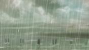 Regen an der Küste