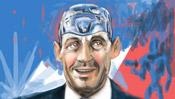 Sarkozy mit Kopf aus Stahl