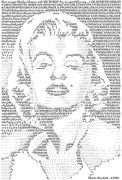 Marilyn Monroe - speed typing Star Poster