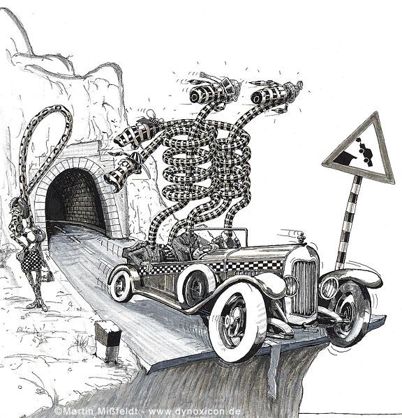 Unfall-Ursache am Tunnel  Ende