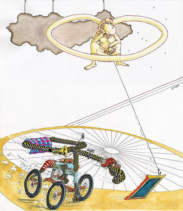 Die Braut und der Junggeselle (nach Duchamp) - Der endlose Antrieb / Abrieb