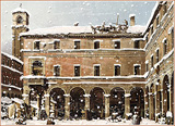 Venedig im Winter mit Schnee (nach Canaletto)
