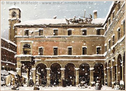 Venedig im Winter mit Schnee (Bildmontage)