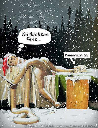 Der Wunschzettel zum Weihnachtsfest (Cartoon)