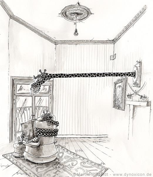 Das Großwildjäger-Wohnzimmer