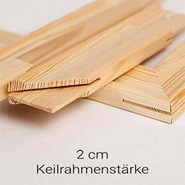 Keilrahmen 2 cm (Holzleisten)