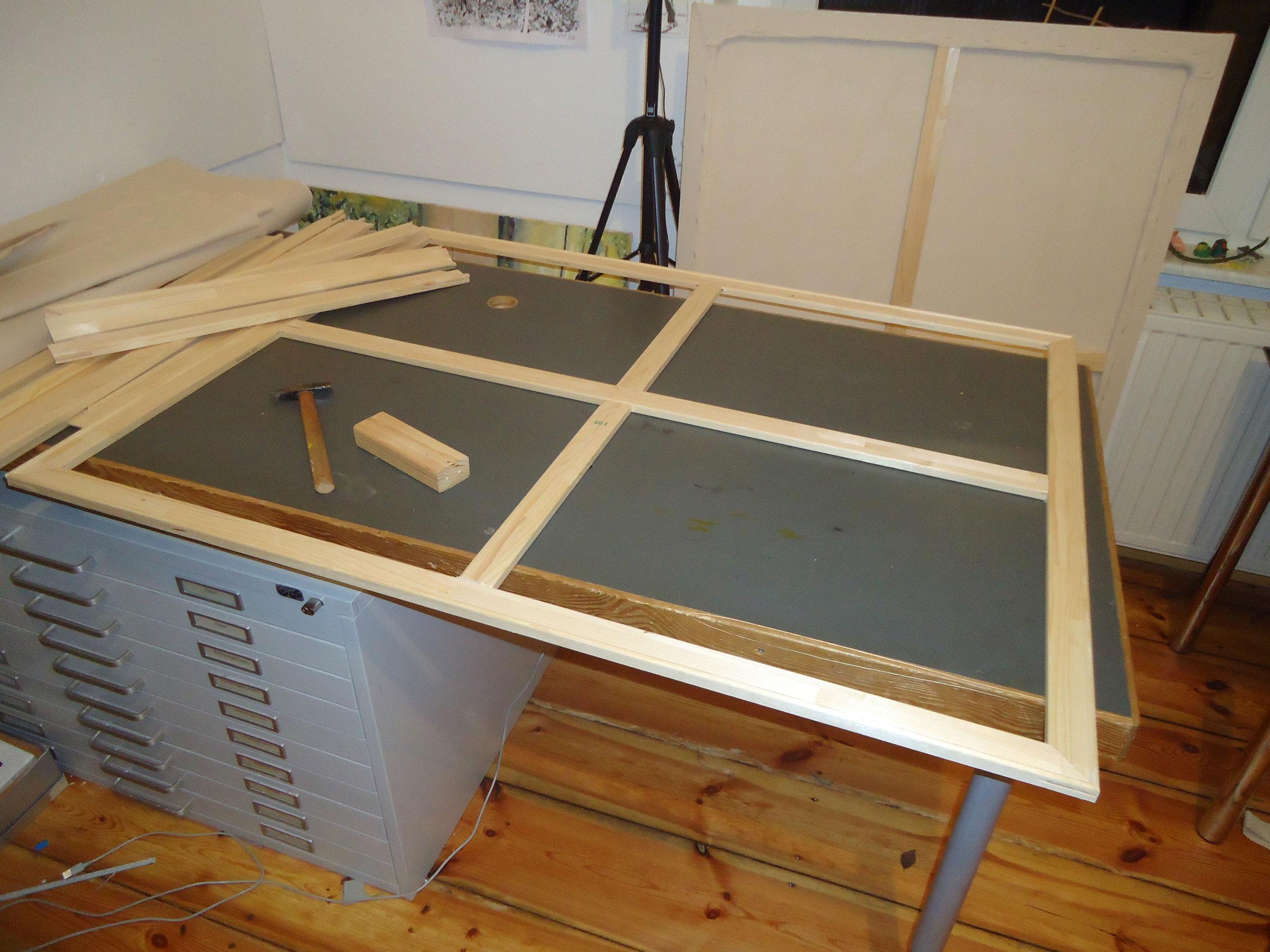 keilrahmen selber zusammenbauen anleitung. Black Bedroom Furniture Sets. Home Design Ideas