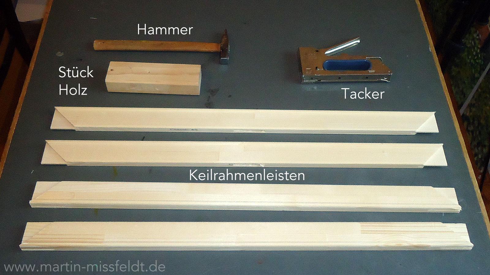 Keilrahmen Selber Zusammenbauen: Material Und Werkzeug
