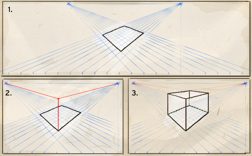 Perspektive zeichnen leicht gemacht 1 online tutorial for 3d raum zeichnen