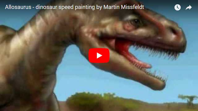 Allosaurus - photoshop retouch