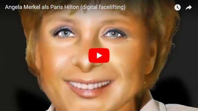 Angela Merkel Retusche (wie Paris Hilton)