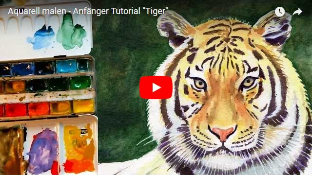 Aquarell malen: Tiger