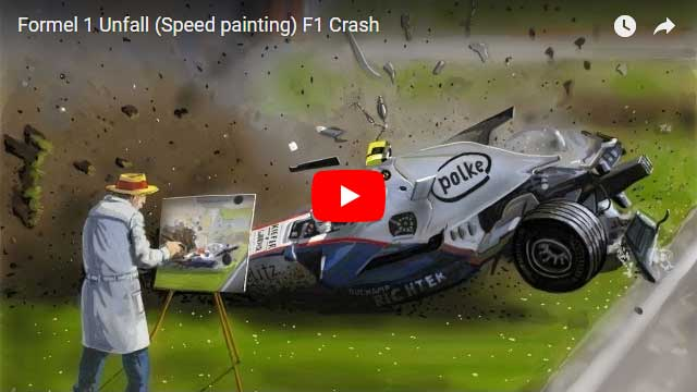 F1 Crash speed painting - car speedpainting