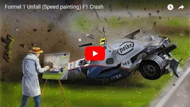 F1 Unfall speedpainting - Formel 1