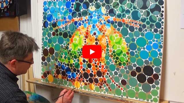 Ölbild Fangschreckenkrebs (Farbtest)