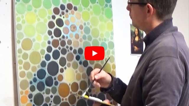 Mona Lisa Visual Test (Oil painting)
