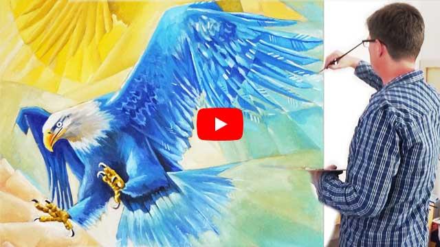 Der Sturz des Adlers (Ölgemälde, Kubismus)