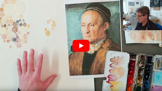 Portrait painting: Jakob Muffel (watercolor after Dürer)
