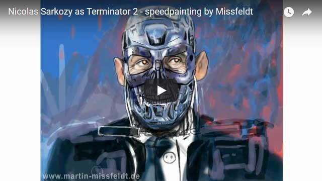 Terminator Nicolas Sarkozy - Speedpainting
