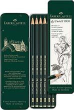 Bleistift-Set Faber-Castell 9000 (6-er Etui)